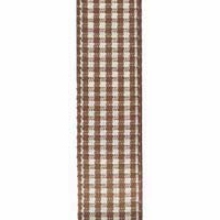 Offray Vintage Brown Micro Check Ribbon