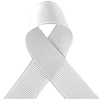 Offray White Grosgrain Ribbon