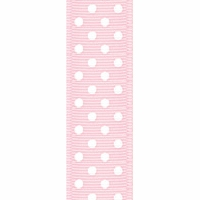 Offray Light Pink Confetti Dots Ribbon