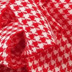Red/White All Hounds Houndstooth Ribbon