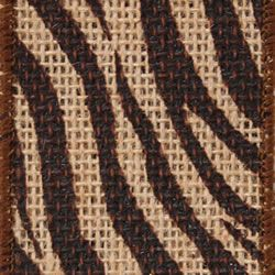 Bengal Striped Burlap Ribbon