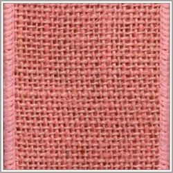 Light Pink Burlap Ribbon