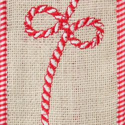 Candy Rope, Wire Edge Burlap