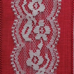 Red Sereno Wire Edge Ribbon