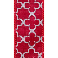 Red Trelly, Wire Edge Ribbon