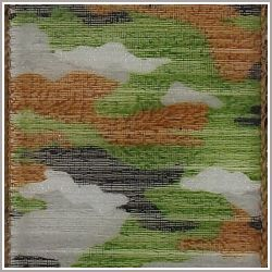 Green Treed Camouflage Sheer Wired Edge Ribbon