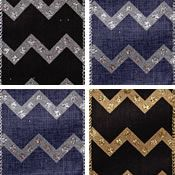 Payton, Wire Edge Chevron Glitz
