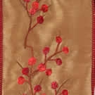 Brambles Red and Gold Faux Silk