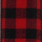 Red/Black Buffalo Plaid Flannel Wire Edge