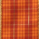 Burnt Orange Oliver, Wire Edge Plaid