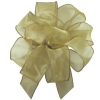 Gold Candi Sheer Wired Edge Ribbon