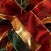 Burgundy Delana Sheer Metallic Striped Christmas Ribbon