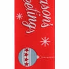 Red Greetings Christmas Ribbon