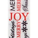 White Joy Satin Christmas Ribbon