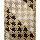 Gold/Black Loki, Wire Edge Houndstooth