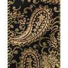 Black Paisa, Paisley Print Wire Edge