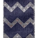 Denim Blue Payton, Wire Edge Chevron