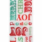 Red/Green Peace Wire Edge Christmas Ribbon