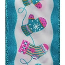 Turquoise Winter Fun, Wire Edge Ribbon