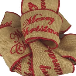 mc merry christmas burlap